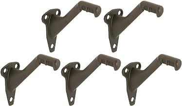 Design House 182014 Standard Handrail Bracket, 5-Pack, Steel and Zinc Construction, Oil Rubbed Bronze