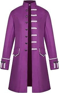 iCos Unisex Medieval Steampunk Coat Men Stand Collar Jacket Formal Halloween Costume Uniform