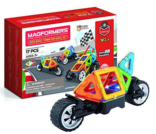 Magformers- Amazing Transform Wheel Set Juguete magnético de construcción, Multicolor, 26.2 x 18.2 x 8 cm (707019) , color/modelo surtido