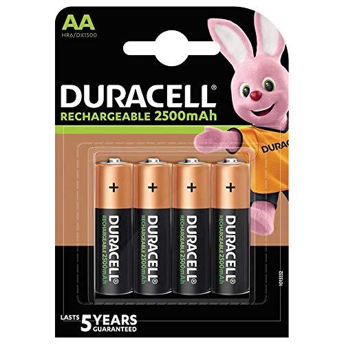 Duracell HR6DX1500 Aa 2 500 Mah Batterier Lr6, Paket med 4, Orange-Svart