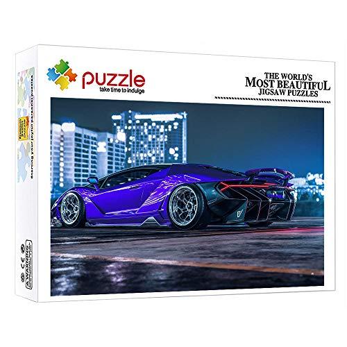 ZTCLXJ 1000 Piezas Puzzles Junior Puzzle 1000 Piezas para Niños Puzzle Coche Deportivo para Adultos Y Niños Educativo para Niños 38 × 26 Cm