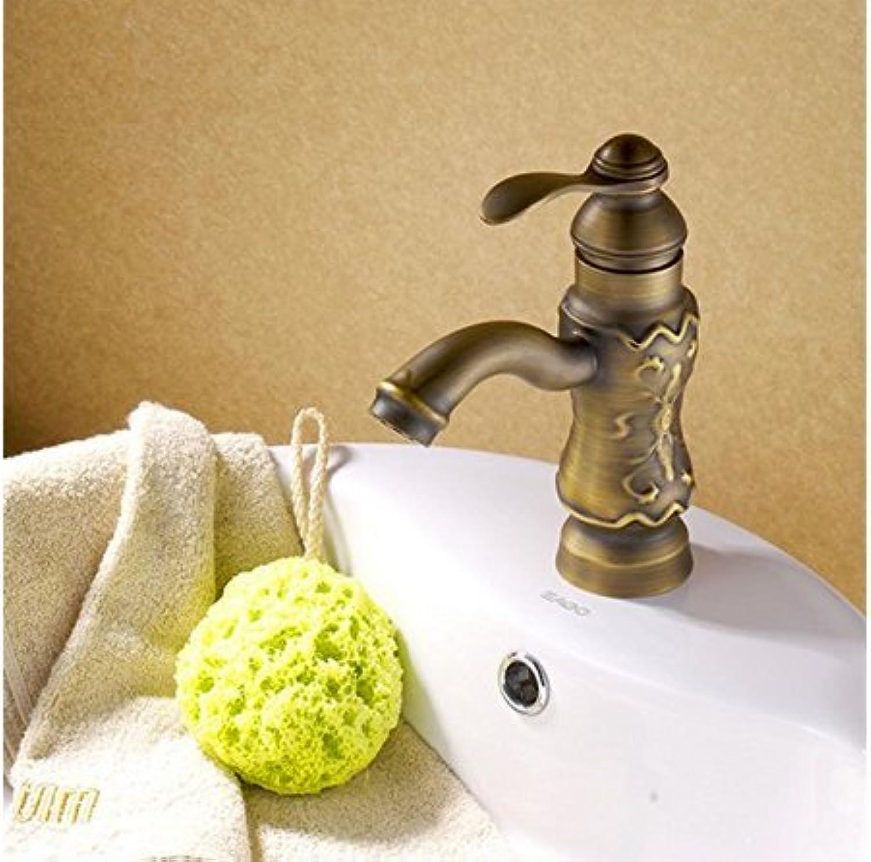 Diongrdk Antique Bath Basin Faucet Bath Basin Full Copper European Style Retro