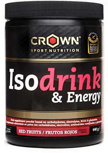 Crown Sport Nutrition Bebida Isotónica - Isotónico en polvo con carbohidratos, sales y aminoácidos. Certificación antidoping Informed Sport