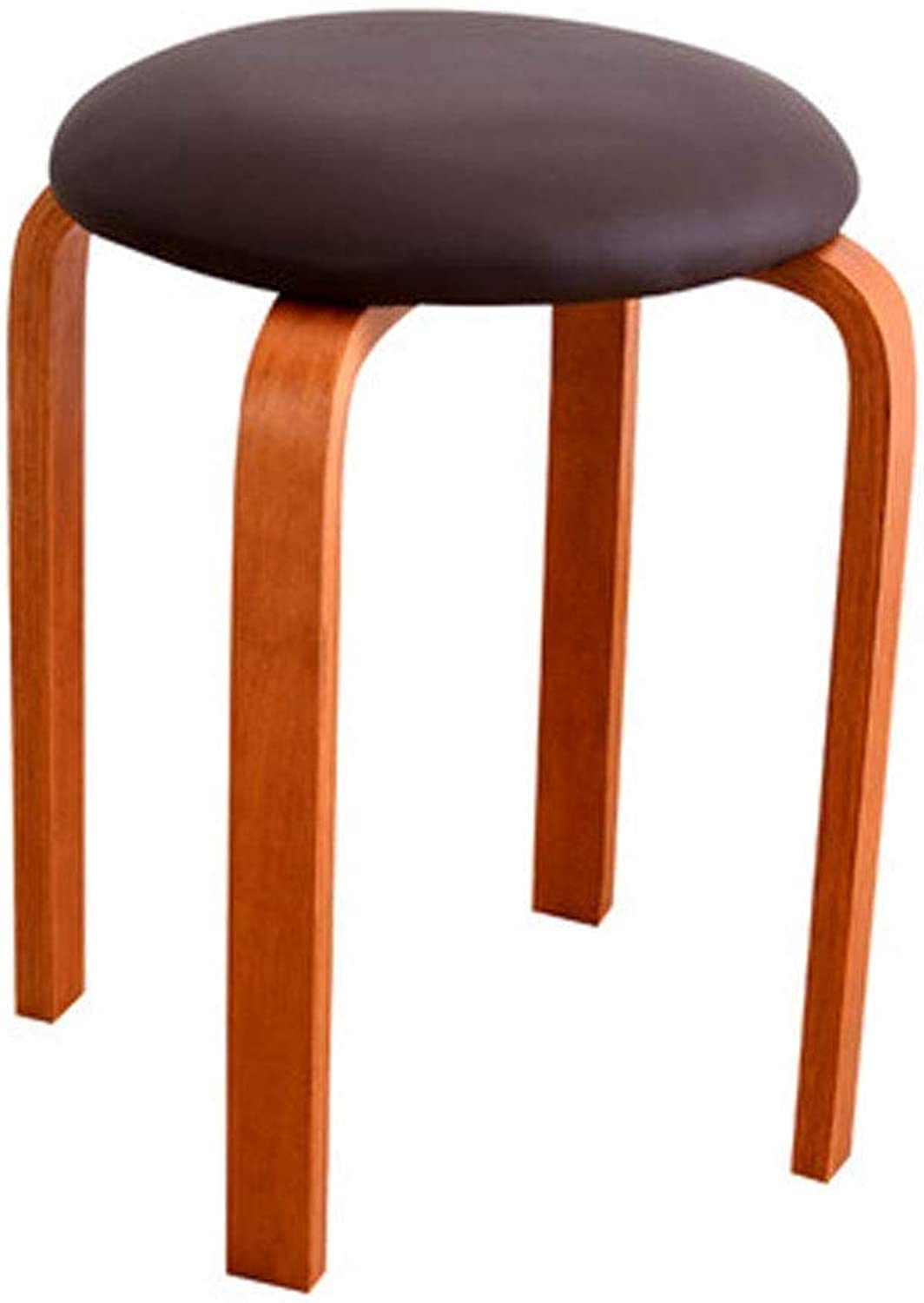 LJX-marryjgo Fashion and Creative Round Stool Dining Stool Low Stool Home Stool Dining Table Stool Bench Solid Wood Stool, Suitable for All Corners of The Family