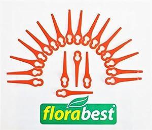 20 Messer / Ersatzmesser / Kunststoffmesser Florabest LIDL Akku Rasentrimmer FRT 18 A1 LIDL IAN 61265 - Achtung passt nur für FRT 18 A1 - nicht für andere Modelle !!!
