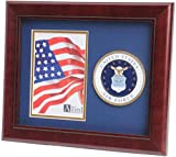 flag connections US Air Force Medallion Portrait Picture Frame - 4 x 6 Picture Opening