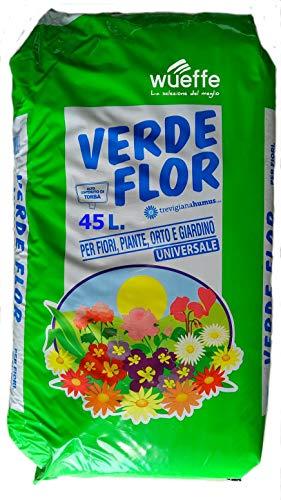 WUEFFE Terriccio Universale Biologico 70% Torba - Sacchi da 45 lt. - orto Fiori Piante Prato 80 50 (3 Sacchi da lt.45)