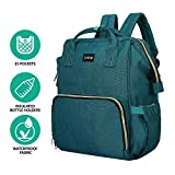LuvLap Lily Travel Multifunctional Waterproof Diaper Bag-Backpack Cum Tote Bag (Green)