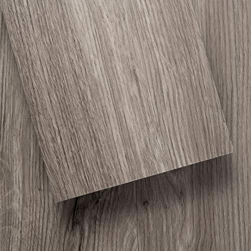 Luxury Vinyl Floor Tiles by Lucida USA | Peel & Stick Adhesive Flooring for DIY Installation | 36 Wood-Look Planks | BaseCore | 54 Sq. Feet