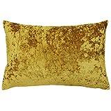 Paoletti Verona Fundas de cojín, de Terciopelo, 40x 60cm, Color Amarillo