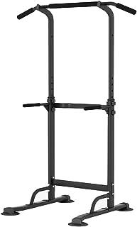 sogesfurniture Power Tower Barre de Musculation Multifonctions Barre de Traction, Station de tractions dips abdominaux pou...