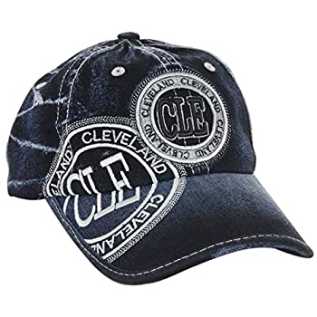 Robin Ruth Cleveland Baseball Denim Cap/Embroidered Silver CLE Stamp