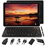GOODTEL Tablet 10 Pollici 4GB RAM 64GB ROM Android 10 Pro Tablets con 8 core 1.6GHz Batteria 8000mAh | Doppia Fotocamera | WiFi | HD IPS | Bluetooth | MicroSD 4-128GB, con Tastiera Bluetooth, Nero