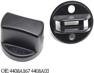 Yh-eu Tapa e inserto de la perilla del interruptor de encendido sin llave for Mitsubishi Outlander 2007-2013, Mitsubishi Lancer 2008-2017 - Reemplazar OE # 4408A167 y 4408A031