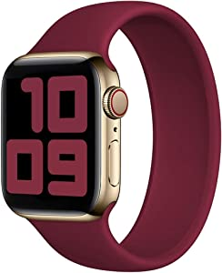 Strawberry Apple Pie - Solo Loop Band Compatible with Apple Watch Bands Replacement Sport Strap Silicone Wristband Men Women for Iwatch Series 6/SE/5/4/3/2/1 40mm 38mm Plum 38mm 40mm Size 3