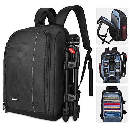 Yesker Camera Backpack Professional DSLR/SLR Camera Bag Waterproof Shockproof, Camera Case Compatible for Sony Canon Nikon Camera and Lens Tripod Accessories for Photographer…