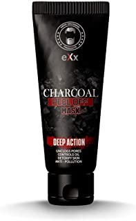 eXx Activated Charcoal Peel-Off Mask for Men and Women, 60gm