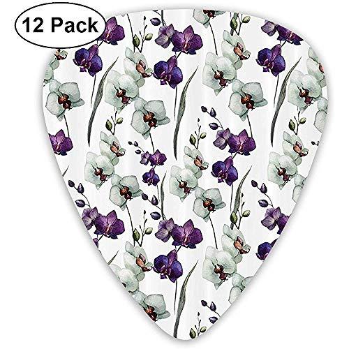 12 Pack Wilde Orchidee Thuis Bloempot Plant Gitaar Picks Complete Gift Set voor Gitarist