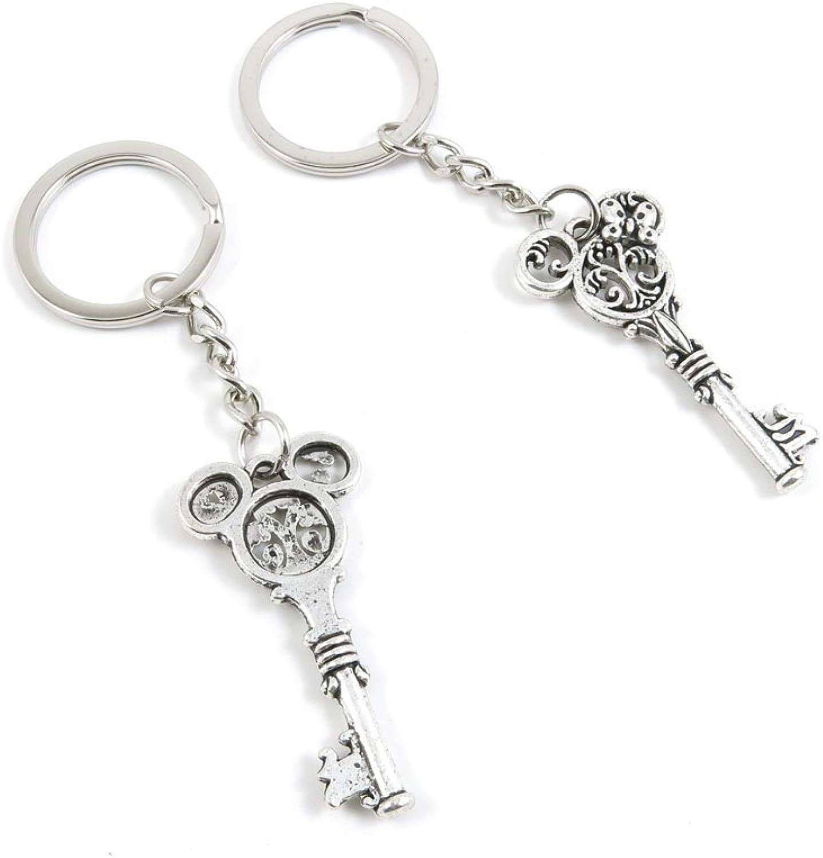 Keyrings Keychains Door Car Keys Rings Tags Chain Antique Silver Tone Bulk Lots I5WE2L Minnie Key