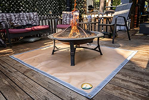 Ember Mat | 67' x 60' | USA Based | Fire Pit Mat | Grill Mat | Protect Your Deck, Patio, Lawn or Campsite from Popping Embers