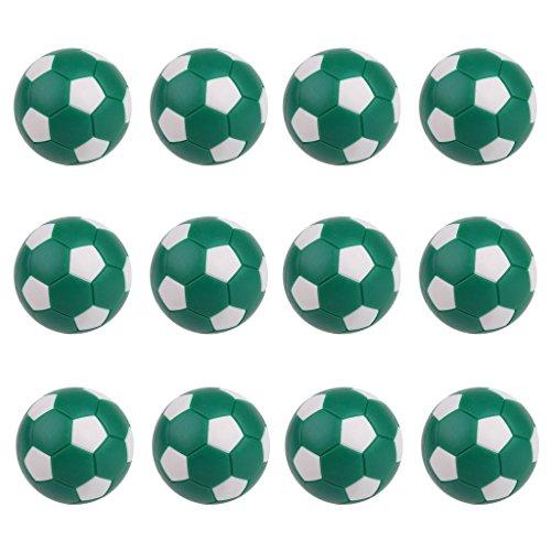 FLAMEER Bolas De Repuesto De Futbolín 12 Piezas Foosball Table 36mm - Verde