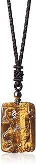 COAI Tiger Eye Engraving Tiger Necklace
