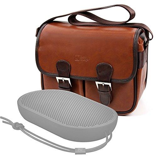 DURAGADGET Bolsa Profesional marrón con Compartimentos para Altavoces Nokia MD-12 / Bang...