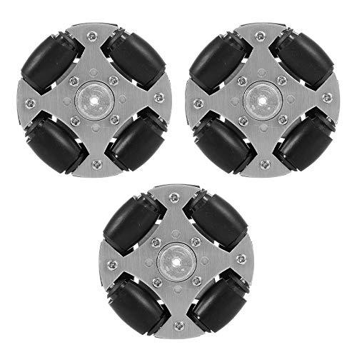 Goolsky Omni Wheels omnidirektionales Rad Metall Doppel für RC Roboter RC Auto RC Spielzeug DIY 3pcs