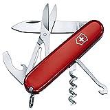 Couteau de poche Victorinox Compact (15 fonctions, ciseaux, crochet) rouge