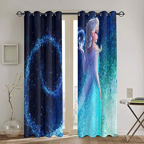Cortinas Chid personalizadas congeladas para habitaciones de niños oscurecimiento de la habitación cortinas anchas 55'x63'
