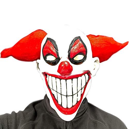 Rubber Johnnies Máscara de Payaso Que Brilla en la Oscuridad, Hombreras de Goma, Adulto, Talla única