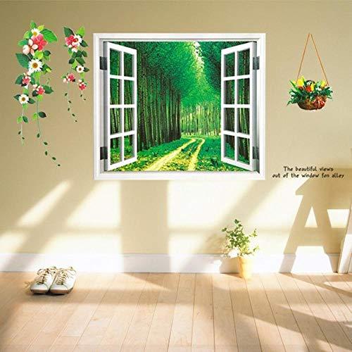 Ventana falsa Papel tapiz de madera Sala de estar Dormitorio Sofá Pasillo Comedor Estudio Fondo creativo Decoración