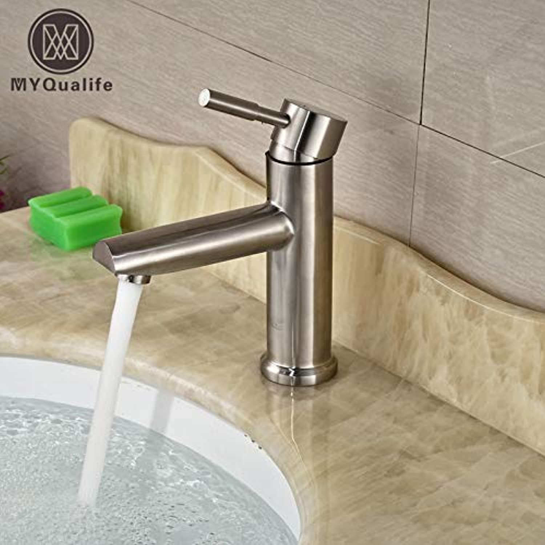 U-Enjoy Kronleuchter Vanity Waschbecken Badezimmer Basin Deck Top-Qualitt Montage Wasserhahn Einhebel-Wasser-Nickel Gebürstet Finishtap Kostenloser Versand