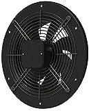 Ventola assiale/radiale ad alte prestazioni per ambienti domestici o industriali di grandi dimensioni, aria di alimentazione e di scarico, aspirazione, adatta per tubazioni, pareti, tetti, 5. Axial Ventilator (Metall rund schwarz), Ø 300 mm