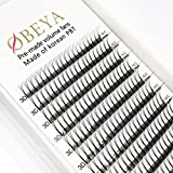 Volume Lashes Premade Fans 0.10 C Curl 3D Eyelash Extensions 9-16mm Mixed Length Russian Volume Long Stem Pre-fanned Eye Lash