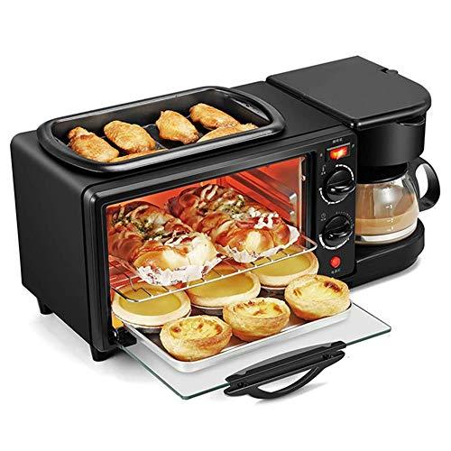 3-In-1 Frühstückscenter Elektrische Multifunktions-FrüHstüCksmaschine Minibackofen mit Kaffeemaschine