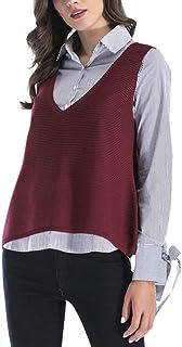 8ac3e1ec7c Amazon.it: Rosso - Pullover senza maniche / Maglioni, Cardigan ...
