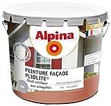 ALPINA Peinture façade - Pliolite - Garantie 5 ans - Mat Gris 10L 80m²