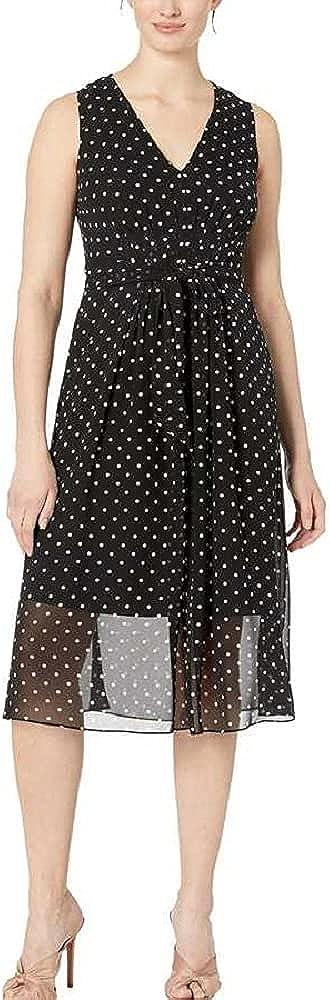 Anne Klein Women's V-Neck Midi Dress