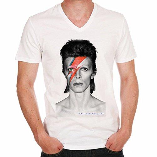 One in the City David Bowie Eccentric Grey H T-Shirt,Cadeau,Homme,cŽlŽbritŽ,Blanc,L,t Shirt h
