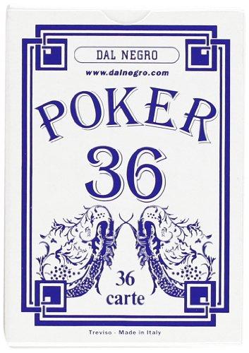 Dal Negro- Poker 36 Astuccio Blu Carte da Gioco, 20101