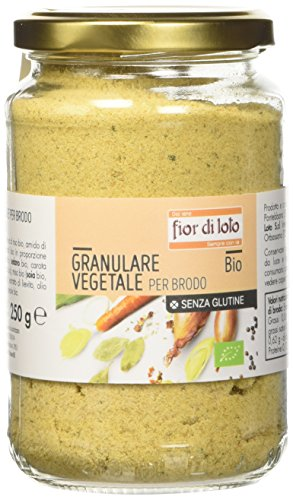 Fior di Loto Brodo Vegetale Granulare con Sale - 250 gr