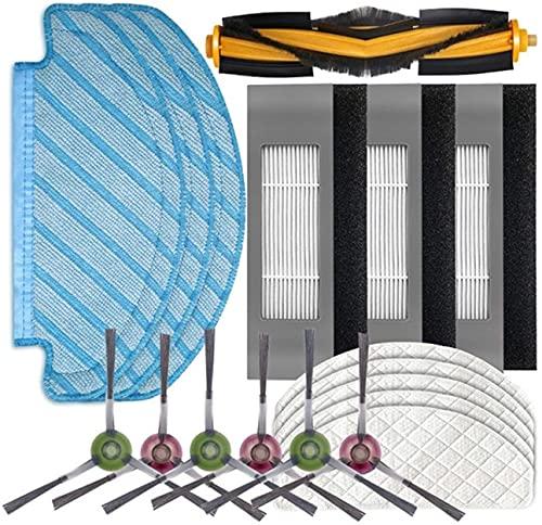 Suave Cepillo de Rodillo de Filtro Paños de MOP para E-covacs para D-EEBOT para O-ZMO T8 Aspirador Cepillo Principal Cepillo Limpieza Limpieza Limpieza Dispositivo Dispositivo Accesorio Kit (Color: 8