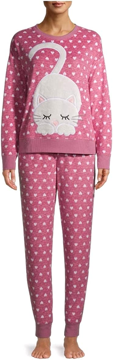 Purchase Kitty Cat Tea Rose Pink Pajama Sleep Set Plush New item