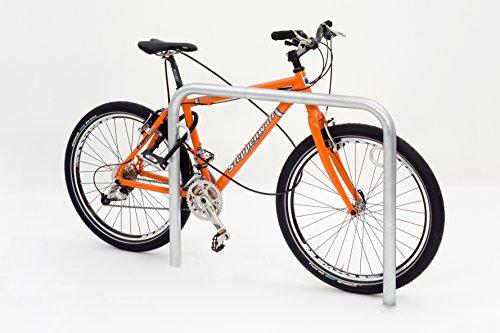 TRUST Fahrradparker - Anlehnbügel verzinkt, mit Ringöse zum Einbetonieren - Länge 1000 mm - Anlehnbügel für Fahrräder Anlehnparker Einzelständer Fahrradanlehnbügel Radständer