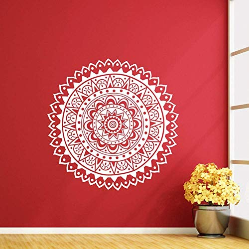 Mandala Wandtattoo Lotus Flower Vinyl Aufkleber Wohnzimmer Namaste Indian Modern Home Decor Wandbild Aufkleber Wallpaper 57X57Cm
