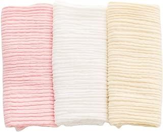 Baby 3 PCS Cotton Warm Umbilical Cord Unisex Newborn Navel Belt (Single Layer White Pink Yellow)