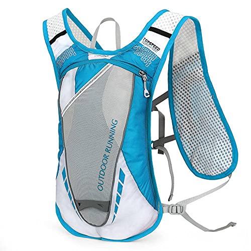 N\C Mochila de hidratación de 5L con vejiga de Agua de 2L Chaleco de hidratación Ultraligero y Transpirable para Correr al Aire Libre, Ciclismo, Escalada