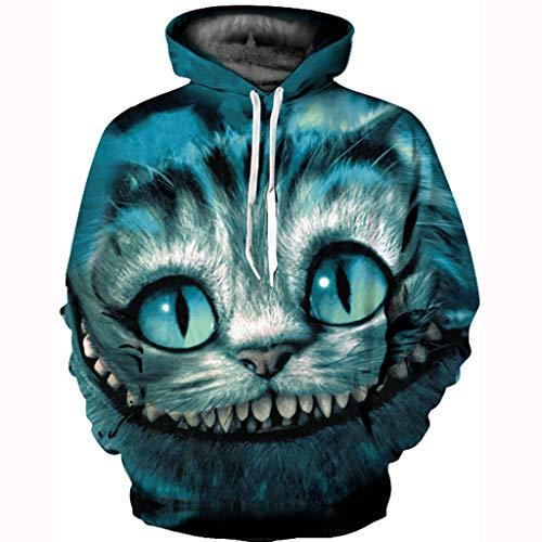 MAYOGO Paar Unisex 3D Hoodie Übergangsjacke Kapuzenpullover Sweatshirt Pullover Mit Kaputz Herbst Winter Elegant Sweatjacke Casual Outwear