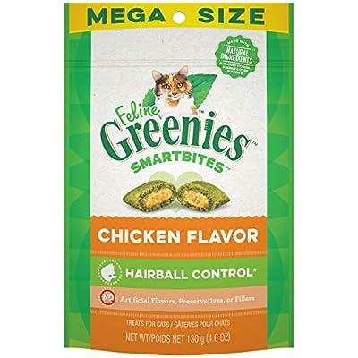 FELINE GREENIES SMARTBITES Hairball Control Chicken Flavor Cat Treats 4.6 Ounces (Pack of 10)